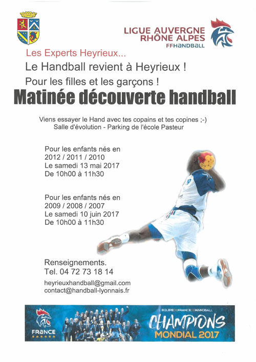 Nouvelle section Handball