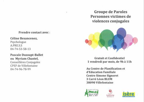 Groupe de Paroles personnes victimes de violences conjugales
